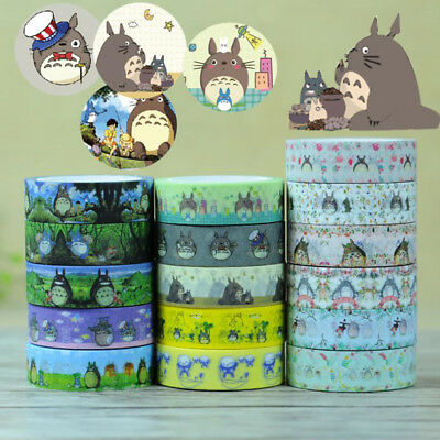 My Neighbor Totoro Japanese Washi Adhesive Stationery Craft Tape Sticker DIY DE