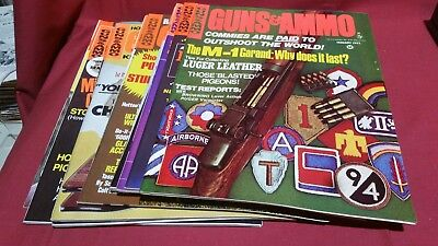 1971 Full Year GUNS & AMMO Magazine Smith Wesson Colt Winchester Ruger Nice! #94