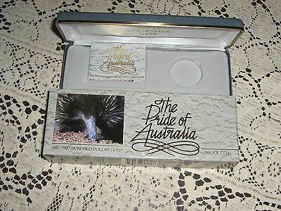 Empty Box and Certificate for Proof 1992 2 Hundred Dollar Coin