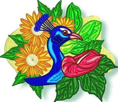 Tropical Birds 10 Machine Embroidery Designs Cd 2 Sizes Included