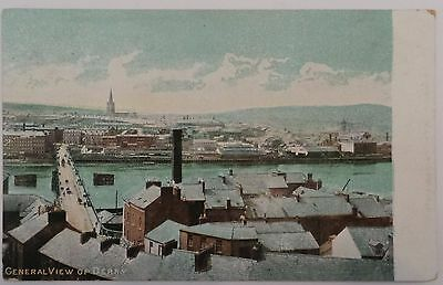 Circa 1910 Postcard 'general View Of Derry' Co. Londonderry - Unposted