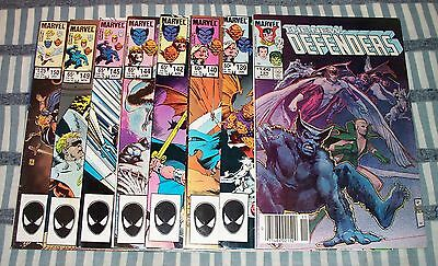 Lot of 8 Marvel's THE NEW DEFENDERS Comics from #125 - 150 with Hulk, Dr.Strange