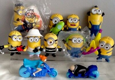 Bulk/Job Lot Of DESPICABLE ME 3 McDonald's MINIONS toy Figures 2017 Version