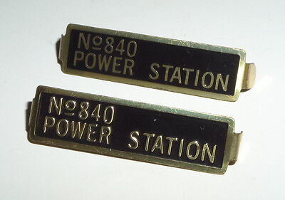 Set Of 2 Lionel/t-Repro Metal Plates Parts For 840 Power Station Stand. Gauge