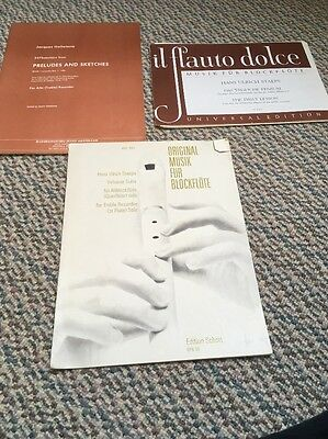 3 Pieces For Unaccompanied Recorder The Daily Lesson Hotteterre And Staeps