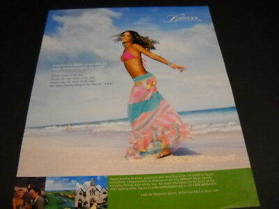 RIHANNA Congratulations from Barbados original 2006 PROMO POSTER AD