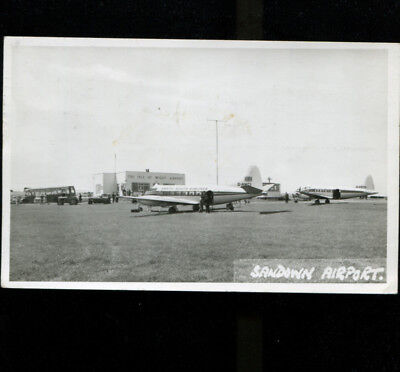 Sandown Airport Isle of Wight RP Postcard North South Airlines Heron G-ANCI