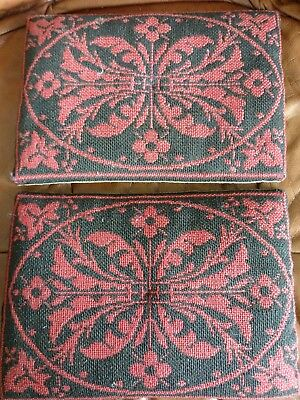 Georgian tapestry church kneeling cushions. Very early Antique Religious