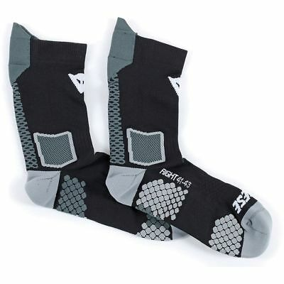 New Nwt Dainese D-Core Mid Socks In Black / Anthracite Grey Size Small Sm S