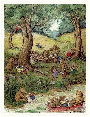 Wee Forest Folk Note#15 - Bear Picnic Note Cards Set of 6