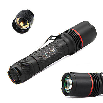 5-Modes 10000LM Tactical Police LED Flashlight Torch Lamp  XML T6 18650&Battery
