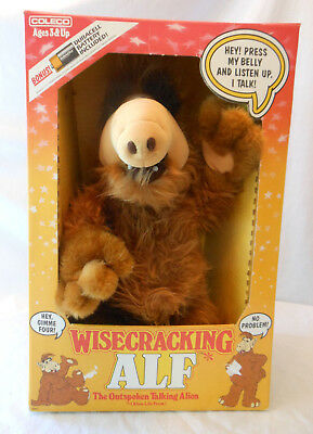 1987 Wisecracking Alf in box talks works clean Coleco