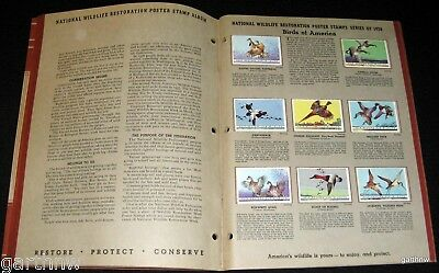 National Wildlife Federation 1939 Poster Stamps & Book Animals Birds Flower Fish
