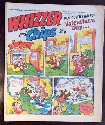 Whizzer And Chips Comic. 14 February 1987. Vfn+ Condition. (1
