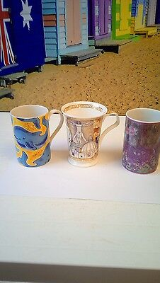 3 Very Rare Dunoon Mugs Deep Freezers Millennium Claude Monet Jane Brookshaw
