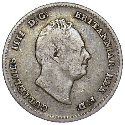 1836 Groat (Fourpence) - William Iv British Silver Coin