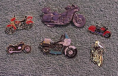 Motorcycles Lot Of 6 Pins