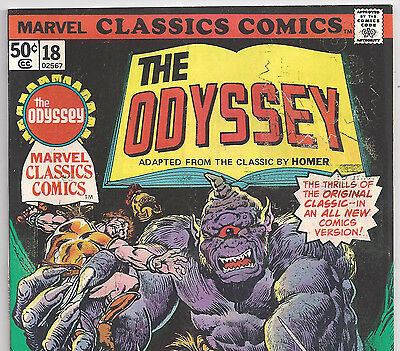 Marvel Classics Comics #18 Homer's The Odyssey with 52 Pages from 1977 in VG-