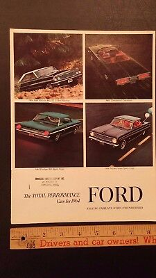 1964 FORD -Total Performance - Dealer Sales Catalog - Very Good Condition (USA)