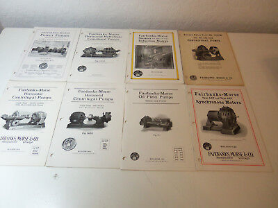 1923 Lot 8 Booklets FAIRBANKS-MORSE Bulletins Centrifugal Pumps Oil Field Motors