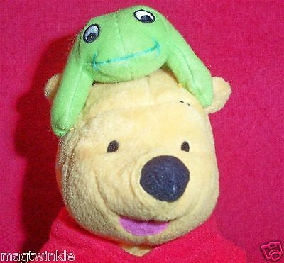 Fisher Price Winnie-The-Pooh+Removeable Green Frog on Poohs Head Disney NWT#1184