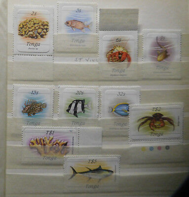 Tonga Stamps, Partial Set, MNH, Fish / Shells