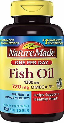 Nature Made Fish Oil 1200mg Omega-3 720mg One a Day 120 Count
