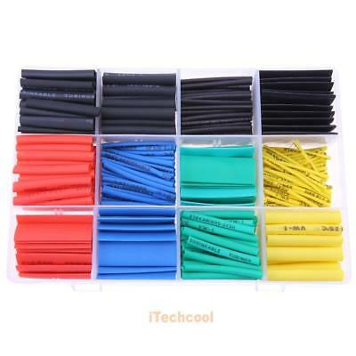 530pc Assorted 2:1 Insulated Heat Shrink Tubing Tube Ratio Wrap Cable Sleeve Kit