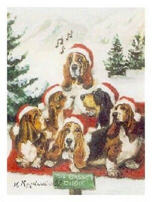 Eight Card Pack BASSET HOUND Dog Breed Christmas Cards