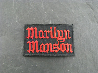 Patches Aufbügler Aufnäher Marilyn Manson Rock'N'Roll Hard Rock
