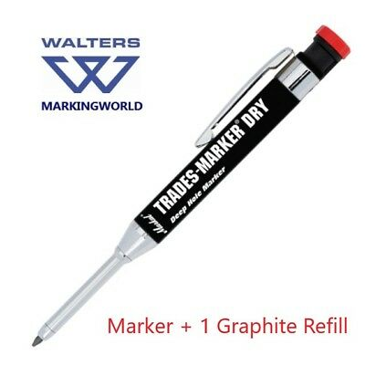 Markal Trades Marker, Graphite & Colour Refills for Timber, Metal, Construction