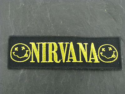 Patches Aufbügler Aufnäher Nirvana Progressive Rock Artrock Punkrock Rock'N'Roll