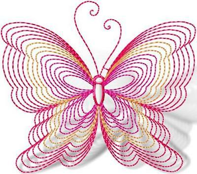 Butterflies Line Work 10 Machine Embroidery Designs Cd 2 Sizes