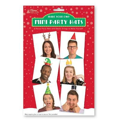 6 Mini Xmas Hats Photo Booth Selfie Prop Fun Funny Christmas Party