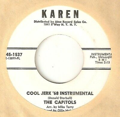THE CAPITOLS Cool Jerk Inst KAREN PROMO DETROIT  NORTHERN SOUL 45