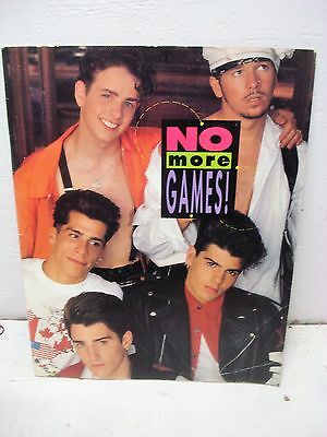 """Vtg New Kids On The Block NKOTB """"No More Games"""" Poster Tour Book 1990 Big Step"""
