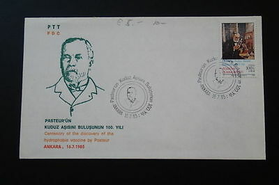 biology Louis Pasteur FDC 1985 Turkey 66640