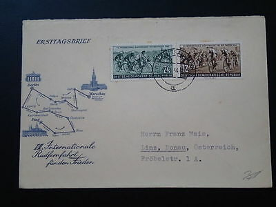 bicycle cycling 1954 FDC Germany 67026