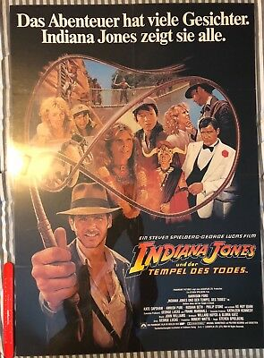 INDIANA JONES AND THE TEMPLE OF DOOM - Vintage Original German Poster - 1984