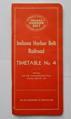 Indiana Harbor Belt Railroad Employee Timetable No.4 (1971)