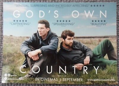 GOD'S OWN COUNTRY - 2 x Promotional Postcards / Flyers - NEW