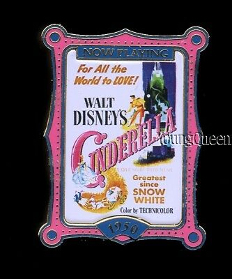 Disney Cinderella 100 Years of Dreams Now Playing Movie Poster #60 Pin