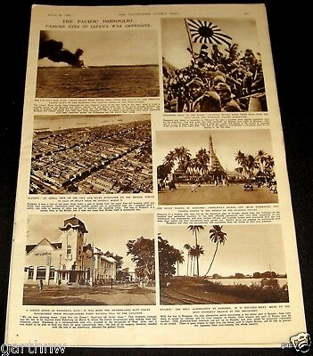 R.a.f. 1942 Bombs Renault Paris Factory Pictorial + Japanese War Offensive