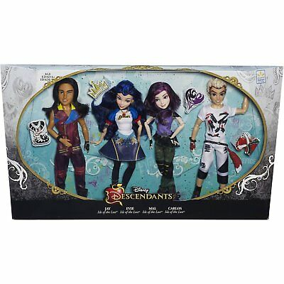 Disney Descendants 4 Pack Dols Isle of the Lost Villians Villains NEW