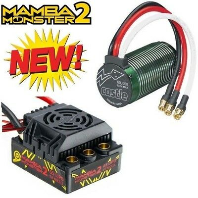 Castle Creations 1/8 Mamba Monster 2 25V ESC /Neu-Castle 2650kV Motor COMBO