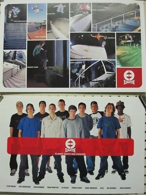 Planet Earth 2001 Brian Howard/Team 2 sided Skateboard poster New Old Stock