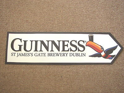 Guinness Toucan, St. James Gate tin Road Sign