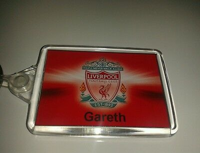 Personalised liverpool fc keyring football premiership