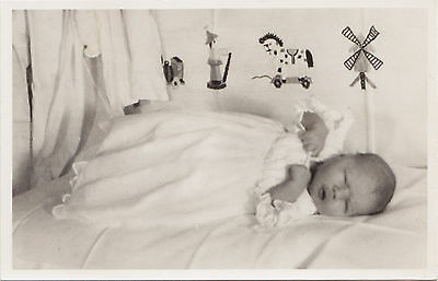 Infant PRINCESS MARIA CHRISTINA OF THE NETHERLANDS 1947 Real Photo Postcard