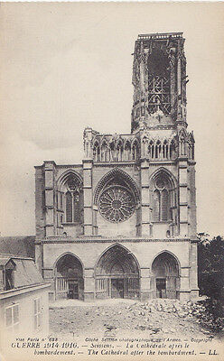 Bombardement Cathedrale SOISSONS Aisne France Guerre 1914-16 Édition Levy Fils